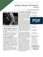 Winnebago Alumni Newsletter Fall 2010