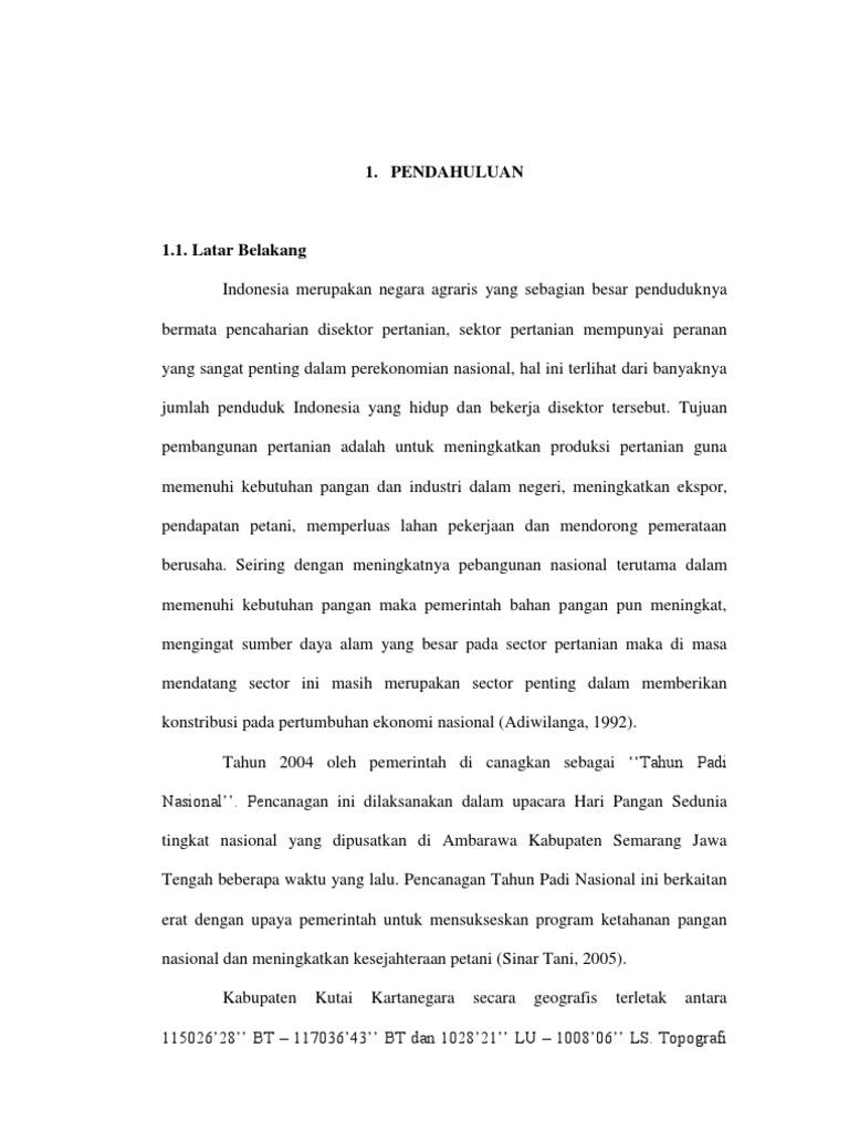 proposal skripsi pertanian