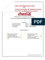 coca-cola competitive analysis in Bhubaneswar market