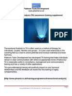 Transactional Analysis Handout Pteamd