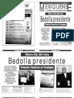 Versión impresa del periódico El mexiquense 6 julio 2012