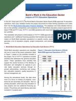 WORLD BANK ProjectAnalysisFY11