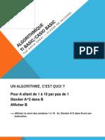PowerPoint sur les Algorithme et la programmation TI Basic & Basic Casio pour Lycée