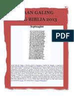 Saan Galing Ang Biblia 2013