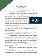 Aviz Negativ Al Curtii Constitutionale  Pentru Suspendarea Presedintelui