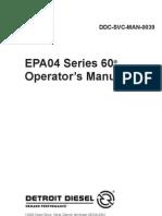 Detroit Series 60 Operation Manual