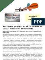 Alex recebe proposta de R$ 16 milhões do Catar, e Corinthians dá sinal verde