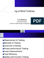 Wind Turbine Testing Powerpoint
