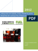 ANALYSIS OF DIESEL FUEL FROM PLASTIC WASTES BY CATALYTIC PYROLYSIS