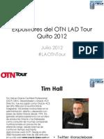 Expositores Del OTN LAD Tour Quito 2012
