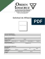 Solicitud de Afiliación Orden Rosacruz