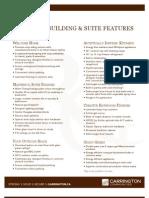 Rutherford Gate Condominiums Bldg C Feature Sheet