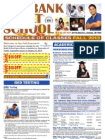 Burbank Adult Fall 2013 Schedule
