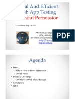 AbrahamAranguren. Legal and Efficient Web App Testing Without Permission