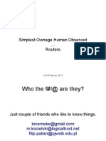 FilipPalian_MateuszKocielski. Simplest Ownage Human Observed… Routers