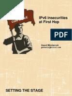 Gaweł Mikołajczyk. IPv6 insecurities at First Hop