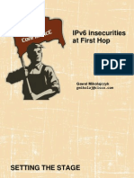 Gaweł Mikołajczyk. IPv6 insecurities at First Hop