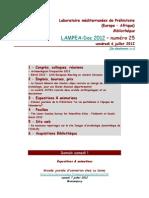 LAMPEA-Doc 2012 - numéro 25 / vendredi 6 juillet 2012