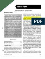 Feldstein Taxes and Efficiency