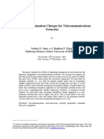 Regulating Termination Charges for Telecommunications Networks