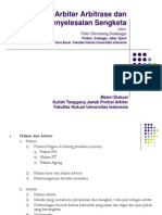 Prinsip Dasar Arbitrase Dan Penyelesaian Sengketa_FHUI
