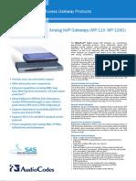 Audiocodes-mediapack-datasheet