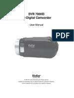 DVR 790HD Camera Manual