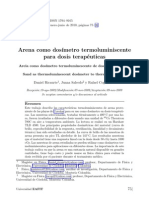 Arena como dosímetro termoluminiscente para dosis terapéuticas