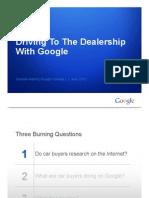 "Google Report | Automobile ""Path to Purchase"" Data (Q2-2012)"