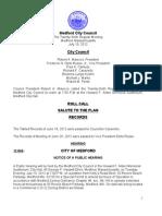 Medford City Council Agenda July 10, 2012