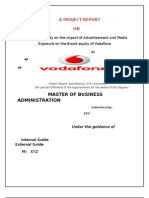 Empherical Study on the Impact of Advertisement and Media Exposure on the Brand Equity of Vodafone