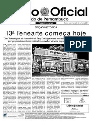 Diário Oficial de Pernambuco - 6/7/2012