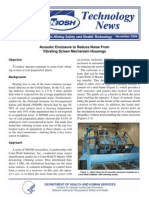 Acoustic Enclosure to Reduce Noise From Vibrating Screen Mechanism Housings