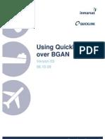 Using Quicklink H264 Over BGAN
