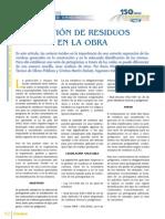 GESTIÓN DE RESIDUOS EN LA OBRA