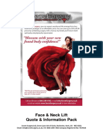 Face and Neck Lift Information Pack with prices