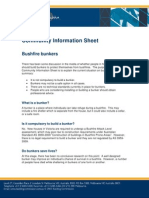Bushfire Bunkers Fact Sheet