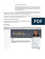 Pam Bondi to FBI