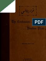 Confessions of Ponitius Pilate