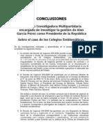 Conclusiones de la Comisión Investigadora Multipartidaria encargada de investigar la gestión de Alan García Pérez como Presidente de la República