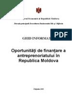 Oportunitati de Finantare a Antreprenoriatului