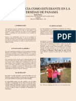 MI EXPERIENCIA COMO  ESTUDIANTE EN LA UNIVERSIDAD DE PANAMÁ