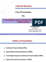 Trade Related Aspect of TRIPS_presentation