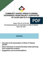 08. Ms. Vu Thi Vinh_ACVN_EN-Quy hoạch đô thị dựa vào cộng đồng_Kinh nghiệm từ các dự án được hỗ trợ của ACHR và EU&KAS