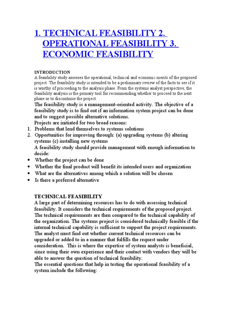 TELOS | Feasibility Study | Intelligence Analysis