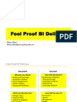 Foolproof Business Intelligence
