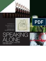 Speaking Alone