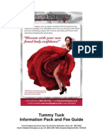 Tummy Tuck Information Pack and Fee Guide