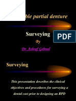 Removable Partial Denture Surveyor