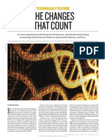 Changes That Count-functional Genomics